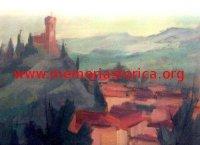 ELVIO CORNACCHIA (1927-1975) Paesaggio di Brisighella (olio)