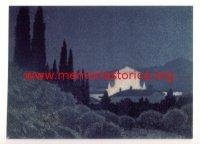 GIUSEPPE UGONIA (1881-1994) Sera di festa (litografia, 1930)